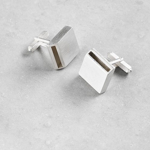 'Inside Out' Square Cufflinks