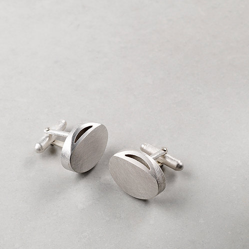 'Curved Curves' Oval Cufflinks