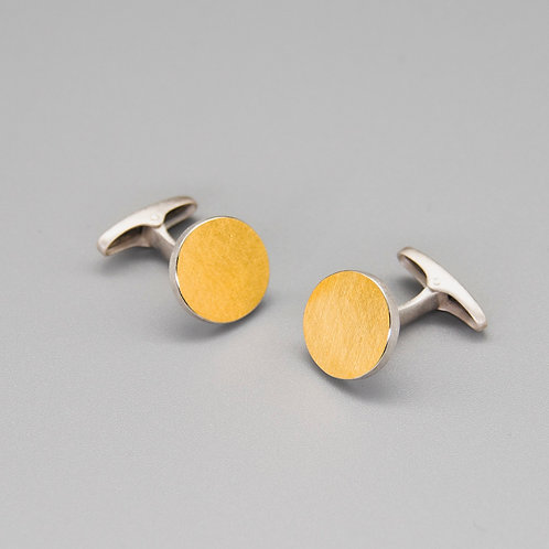 'One on Another' Circle Keum-boo Cufflinks