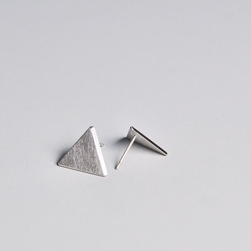 'Inside Out' Plain Triangle Earrings