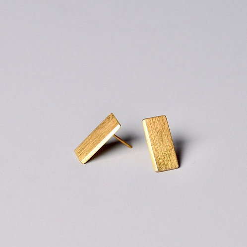 'Inside Out' Plain Rectangle Earrings