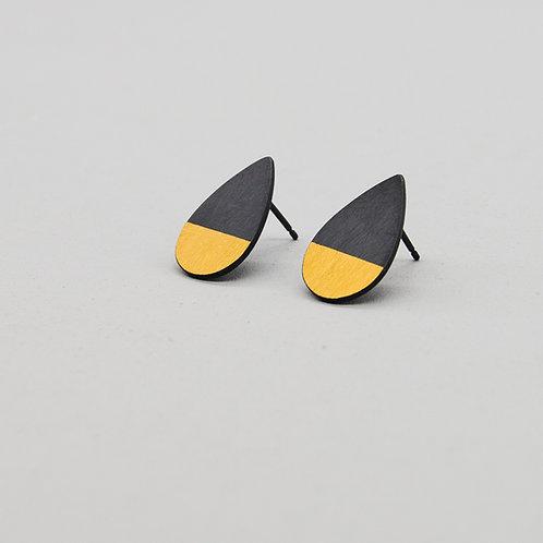 'Gem-metal' Water Drop Keum-boo Earrings