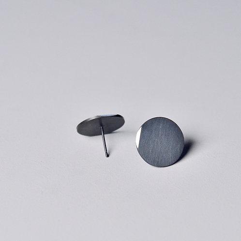 'Inside Out' Plain Circle Earrings