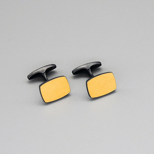 'One on Another' Rectangle Keum-boo Cufflinks