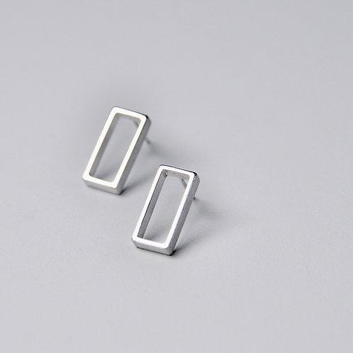 'Inside Out' Framed Rectangle Earrings
