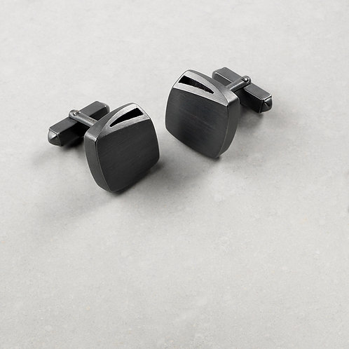 'Curved Curves' Square Cufflinks
