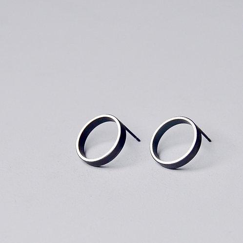 'Inside Out' Framed Circle Earrings