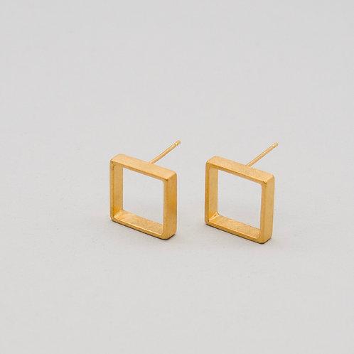 'Inside Out' Framed Square Earrings