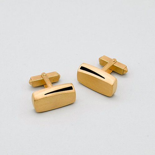 'Curved Curves' Rectangle Cufflinks