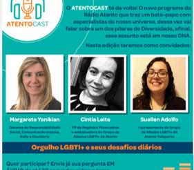 Atento Brasil no Mês do Orgulho LGBTI+