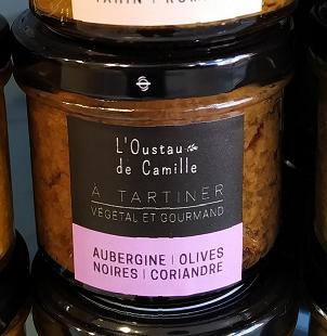 Tartinable Aubergine et Olives Noires- 100g.