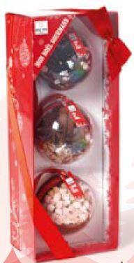 Coffrets 3 Boules de Noel :Thé, Cacao, Vin Chaud
