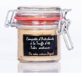 Compotée d'artichauts à la truffe d'été - 90 g.