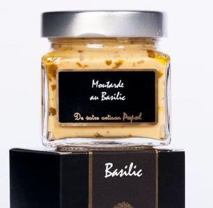 Moutarde Basilic - 200 g.