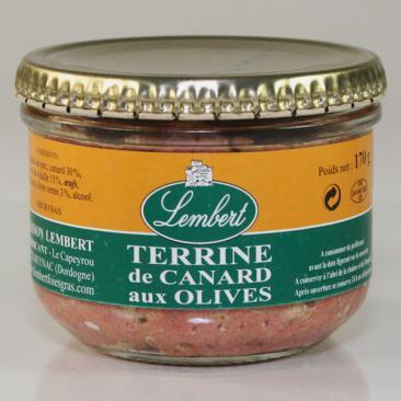 TERRINE CANARD AUX OLIVES