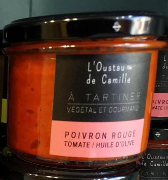 Tartinable Poivron Rouge et Tomate - 100g.