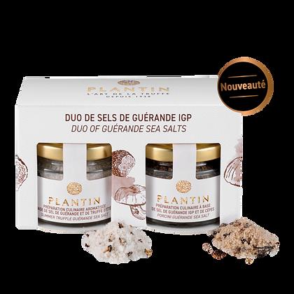 Duo de sels de guérande IGP truffe et cèpes