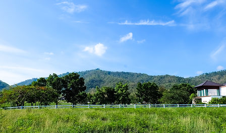 villa and land for sale with view over Khaoyai national park