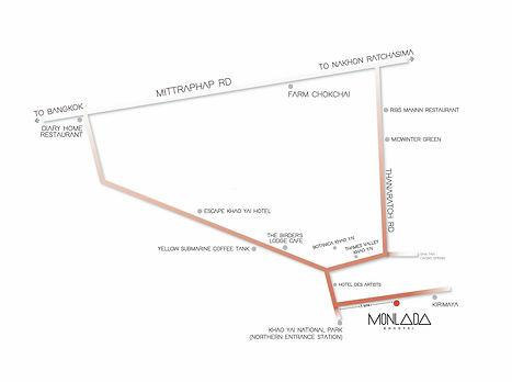 Monlada Khaoyai map