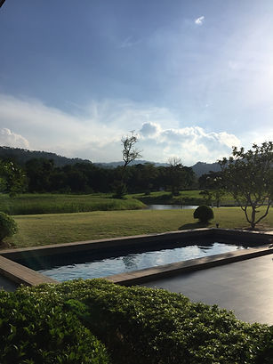 pool next to lagoon with view looking over Khaoyai nature reserve
