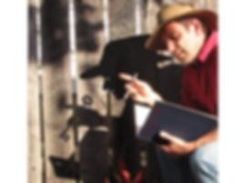 Shadow, acubra hat, book
