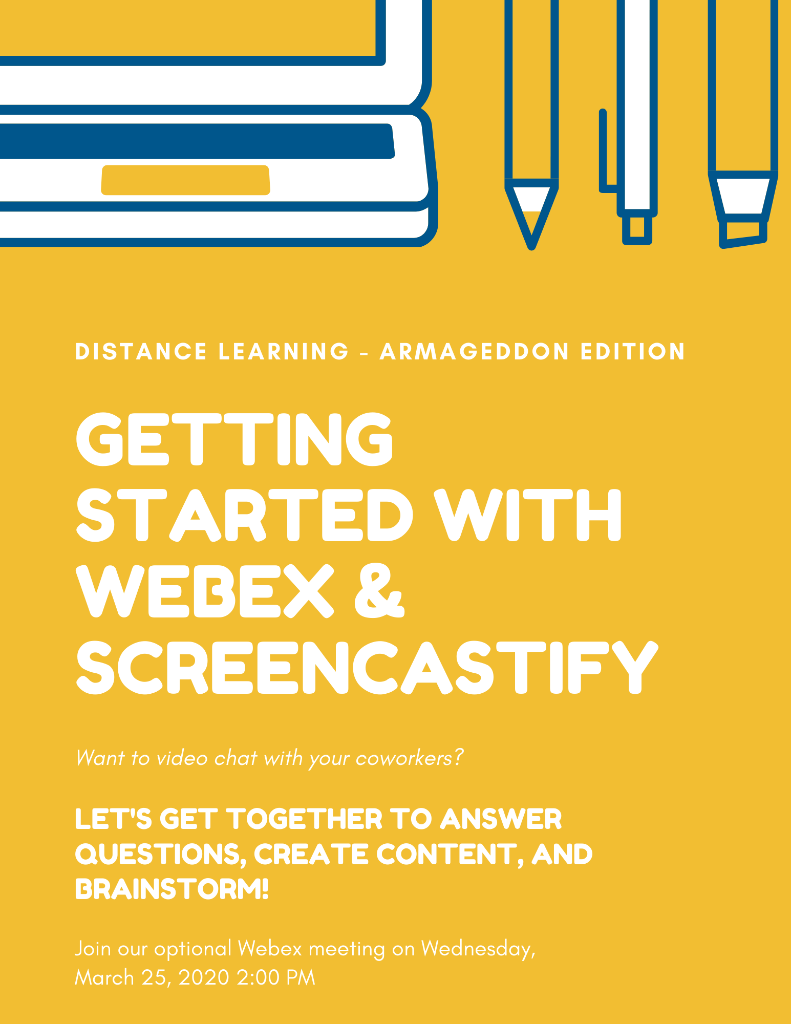 Getting Started with Webex & Screencasti