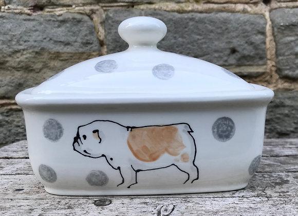 Dotty Dog Baby Curvy Butter Dish