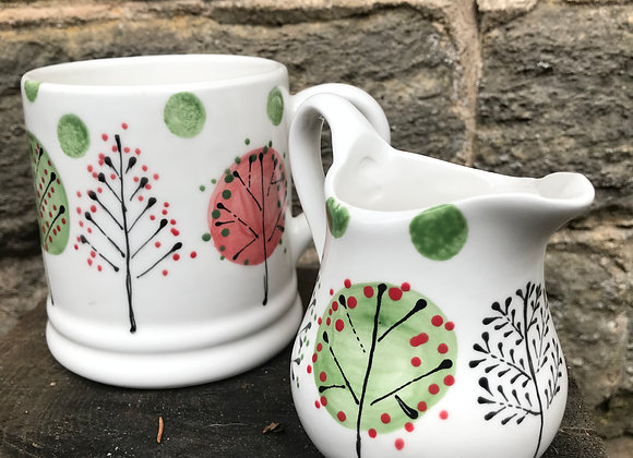 Winter Woodland Small Curvy jug