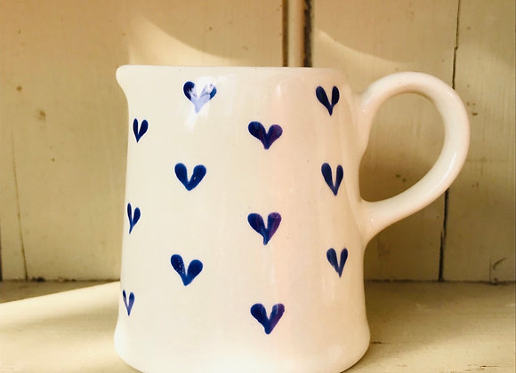 Blue Hearts Country Jug Small