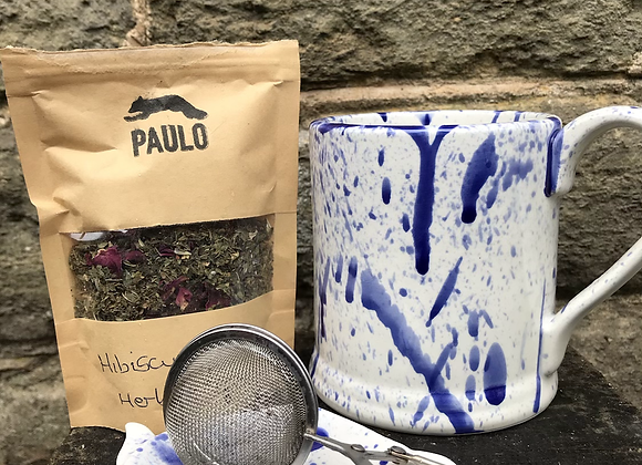 Blue Splatterware tea bag tidy