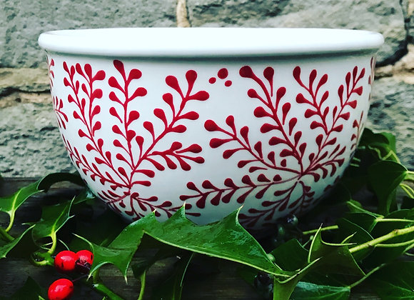 Mulberry red large bowl