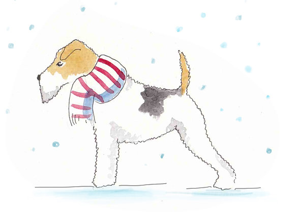 Fox Terrier Christmas Cards set of 6