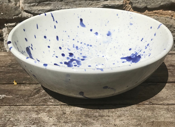 Splatterware Blue 22cm Bowl