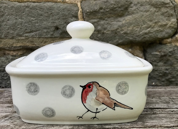 Wildlife Curvy Butter Dish