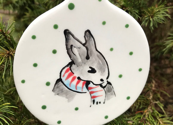 Bunny Christmas decoration