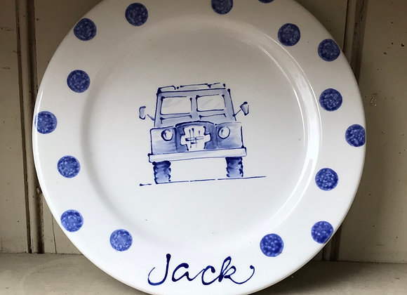 Land Rover plate