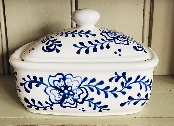 Fleurs Butter Dish