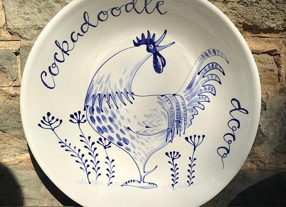 Extra large cockerel bowl