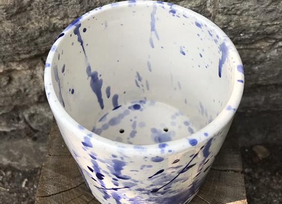 Blue Splatterware Kitchen Utensil Drainer