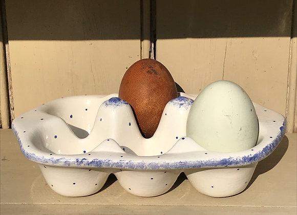 Min spot blue 6 egg tray