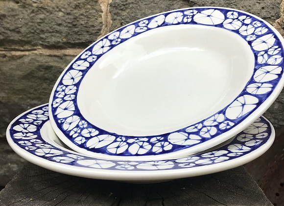 Blue Urchin Lipped Bowl