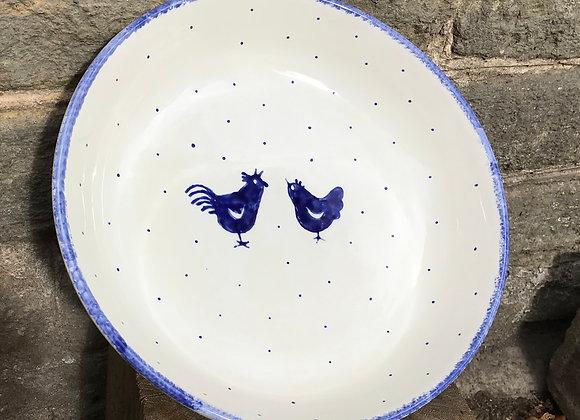 Blue Hen shallow serving bowl