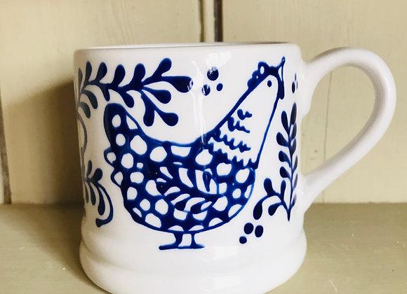 Bloomsbury hen Regular mug blue