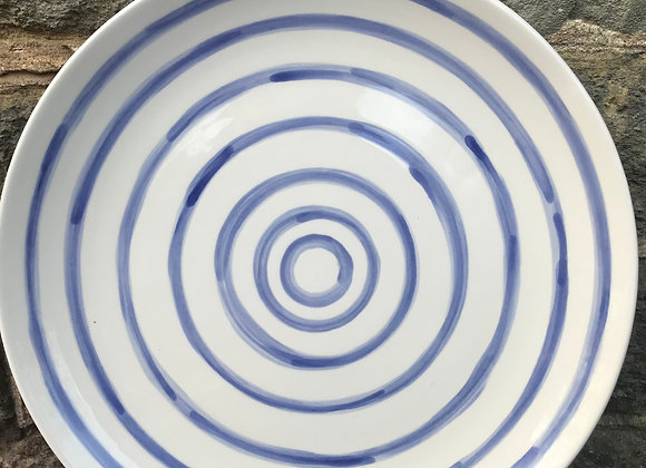 Blue Stripe Coupe Dinner Plate