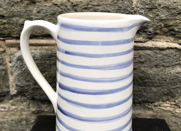 Blue Stripe Large Farmhouse Jug