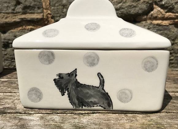 Dotty Dog Straight Sided Butter Dish