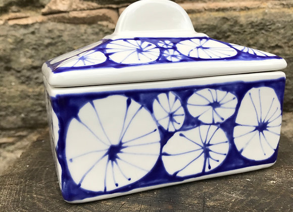 Blue Urchin straight sided butter dish