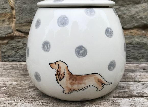 Dotty Dog Storage Jar