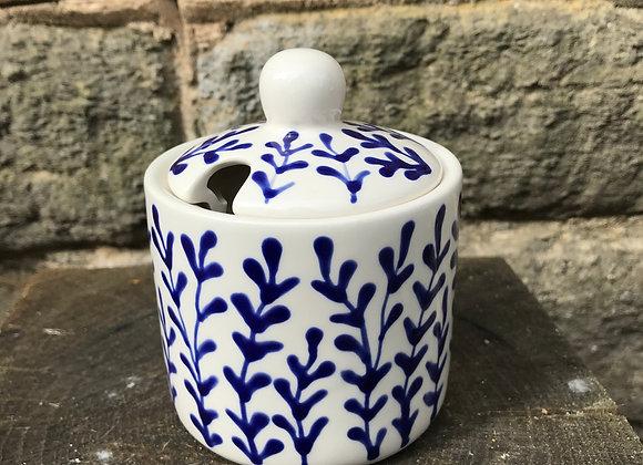 Blue Hebe Sugar Pot
