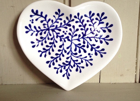 Mulberry blue heart plate